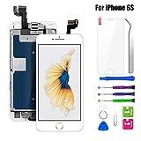 """BuTure Pantalla para iPhone 6S Blanco 4.7"""", Pantalla Táctil LCD con Cámara Frontal,Sensor de proximidad,Altavoz, ensamblaje de Marco digitalizador y Kit de reparación"""