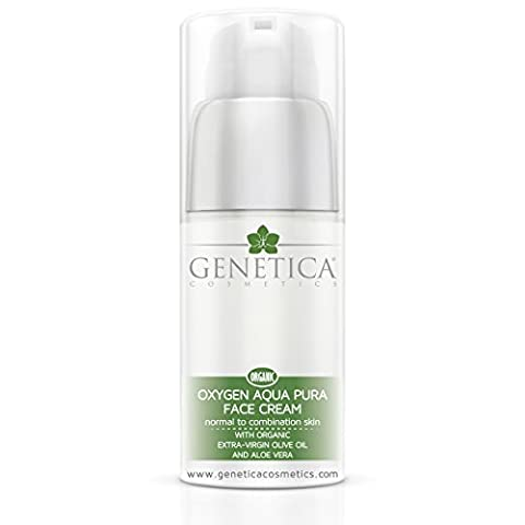 Oxygen Aqua Pura Organic Face Cream with Extra-Virgin Olive Oil and Aloe Vera 50ml