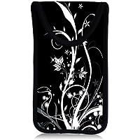 MySleeveDesign Smartphone Hülle Handy Tasche (u.a. passend für Samsung Galaxy S4 & S5 mini , HTC one , Sony Xperia Z1 Compact & Z3 Compact uvm.) - VERSCH. DESIGNS - Flowers White