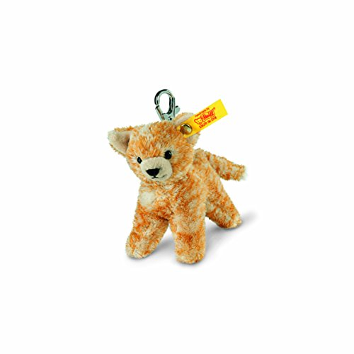 Steiff 112089 - Schluesselanhaenger Katze 10 gestreift, rot