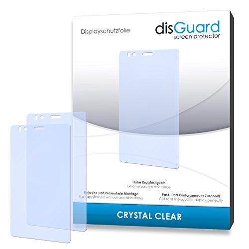 disGuard® Bildschirmschutzfolie [Crystal Clear] kompatibel mit BQ Readers Aquaris E4.5 Ubuntu Edition [4 Stück] Kristallklar, Transparent, Unsichtbar, Extrem Kratzfest, Anti-Fingerabdruck - Panzerglas Folie, Schutzfolie