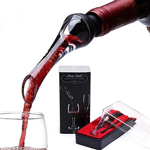 fur wizard erfahrungen Melissa Wizard Red Wine Aerator Pourer Transparent Acryl - Belüftung Decanting Tülle - Premium Liquor Pourer für Rotwein Liebhaber und Regelmäßige Wein Trinker