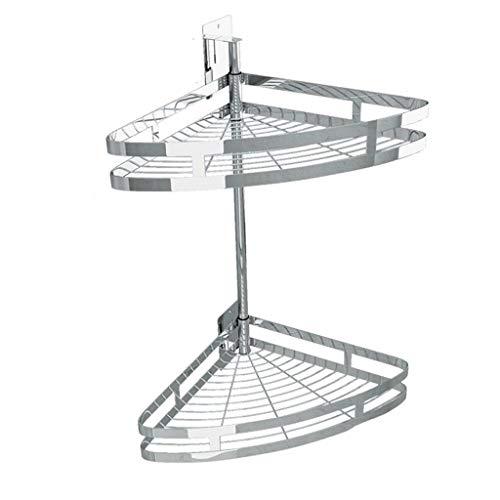 Küchenregal Zweireihig 304 Edelstahl Ablaufwasser drehbare Gewürz Wand-montiert Multi-Funktion Haushalt Lagerung frei Stanzen 35cm * 47cm CHENGYI -