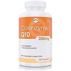 Coenzym Q10 Kapseln von Alparella Elements | 120 Kapseln | 200 mg hochdosiert | Made in Germany