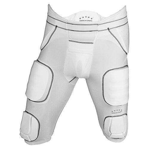 American Sports Unterziehhose mit 7 integrierten Pads - weiß Gr. XL