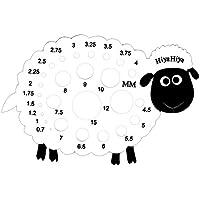 HiyaHiya Aiguilles Mouton calibre, en plastique, blanc/noir