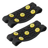 TOOGOO Caliente Nieve Hielo Alpinismo Antideslizante Zapatillas Con Clavos Apretones Garfios Tacos 5-Stud Cubierta de Los Zapatos