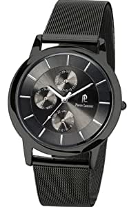 pierre lannier 242b388 montre homme quartz analogique cadran noir bracelet maille. Black Bedroom Furniture Sets. Home Design Ideas