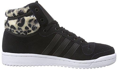 adidas Originals Top Ten Hi Damen Sneakers Schwarz (Core Black/Core Black/Mist Slate F15-St)