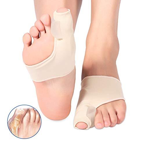 Haofy tutore alluce valgo, gel bunion corrector separatore per uomo e donna, distanziatore dita piede per borsite tallone, raddrizza dita dei piedi protettore giorno e notturno alleviare il dolore