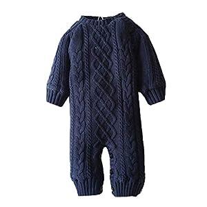 Recién Nacido Traje Recién Nacido Niño Bebé Niños Niñas Chaqueta de Invierno Abrigos de Punto cálido Mono Suéter 16