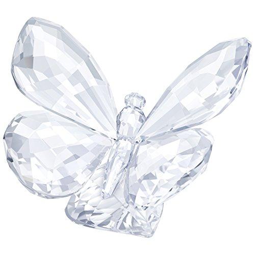 Swarovski farfalla su foglia figura, cristallo, trasparente, 4.7x 6.2x 5cm
