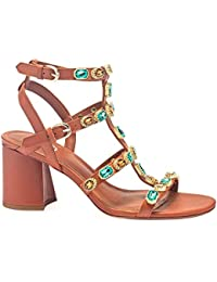 ASH - Brown Ash Jewel 02 Sandal with Colourful Crystals - S19 JEWEL02-39