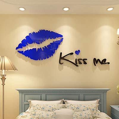 KISSME WANDAUFKLEBER 3D STEREO ACRYL KRISTALL WANDAUFKLEBER UMWELTFREUNDLICH GESCHENK BLAU 500X2000MM