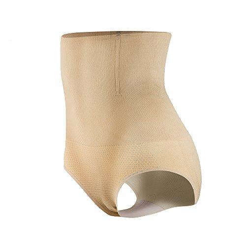 KSKshape Damen Miederslip mit Bauch-Weg-Effekt Miederpants String Mieder Butt Lifter Shaper figurenformend Shapewear, Beige, M