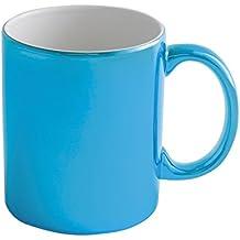 taza grande metálico 480ml - taza de cerámica para las bebidas calientes de regalo de Navidad (azul)