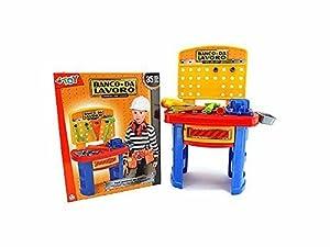 Globo Toys Globo40206 - Banco de Trabajo con Accesorios (78 cm, 35 Piezas)