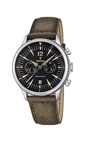 Festina Herren-Armbanduhr Chronograph Quarz Leder