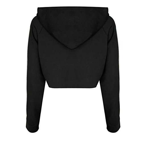 Suit, GreatestPAK un ensemble de Survêtement Sweat Sport Hoodies Sweatshirt Crop Tops Pantalons Noir