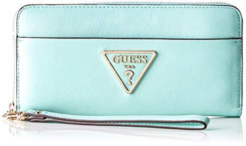 Guess Damen Kamryn Slg Large Zip Around Geldbörse, Türkis (Turquoise), 21x10x2 centimeters