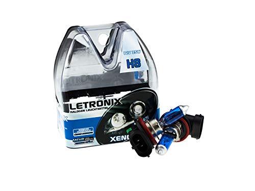 Preisvergleich Produktbild LETRONIX Halogen Auto Lampen H8 12V 8500K Kalt Weiß Xenon Optik Gas Ultra White Look Birnen Lampe Abblendlicht Nebelscheinwerfer Fernlicht Kurvenlicht Zulassung E-Prüfzeichen (LED Optik) (H8 35W)