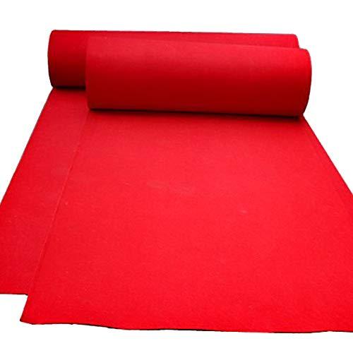 WENZHE Teppich Einweg Hochzeitsteppich Event Teppich Rot Einmal Hochzeit Feier Party Multifunktion, Dicke 1,5 Mm, 5 Breiten, Länge Anpassbar (Farbe : Red, größe : 2x10 m) -