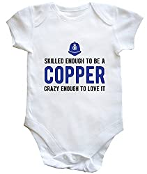HippoWarehouse Skilled enough to be a copper, crazy enough to love it baby vest boys girls