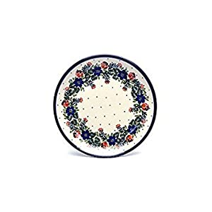Polish Pottery Plate – 7 3/4″ Salad/dessert – Garden Party Ceramika Artystyczna