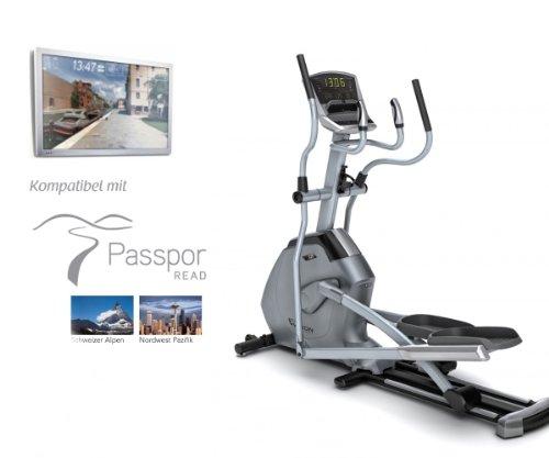 Vision Fitness X20 Classic Elliptical Fitness Crosstrainer - inkl. Bodenmatte und Polar Brustgurt