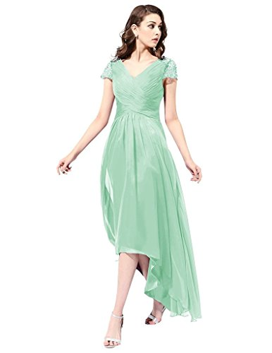 JYDress - Robe - Plissée - Femme vert menthe