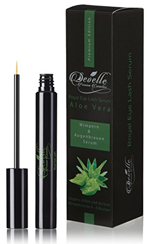 Sérum Cils & sérum de sourcils avec ALOE VERA 8ml. | Develle Royale Eye Lash Cils Sérum | Cils Activation Serum | Sérum de croissance Cils | extensions de cils