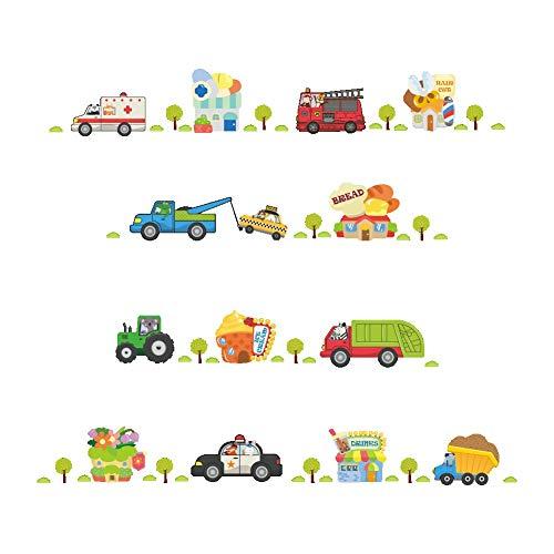 Vinyl 3D Cartoon Autos Autobahn Track Wandaufkleber Für Kinderzimmer Aufkleber Kinderspielzimmer Schlafzimmer Dekor Wandkunst Aufkleber Pvc Diy - Serie-track-beleuchtung
