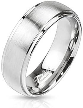Paula & Fritz® Ring aus Edelstahl Chirurgenstahl 316L 6 oder 8mm breit Hochglanz und Band gebürstet verfügbare...