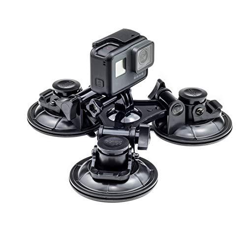 Este soporte de succión proporciona un montaje extremadamente fuerte y seguro de cualquier cámara de acción que utiliza el conector estándar de estilo profesional. Fabricación genuina de alta calidad de Digicharge de plástico ABS duradero con tres al...