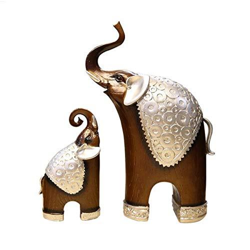 LLRDIAN Escultura de Elefante, decoración de Regalo de Elefante, artesanía de Elefantes, decoración de Oficina en casa