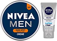 NIVEA MEN Cream, Dark Spot Reduction, 150ml and Nivea Men Dark Spot Reduction Facewash, 50g