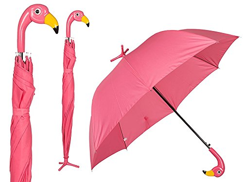 OOTB Flamingo mit Standfuß Regenschirm, 78 cm, Pink