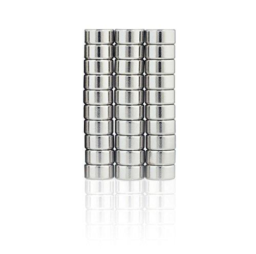Lumaland Mini Magnete praktisch super starker Halt neodym Magnete ultra stark für Whiteboard Magnettafel und Kühlschrank 30 Stück, Ø 6 x 3 mm - Mini-kühlschrank-kalender