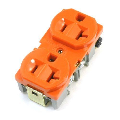 DealMux Flush Mounted Spec Grad Duplex 20Amp 20A Steckdose 125V orange (Steckdose 20 Amp)
