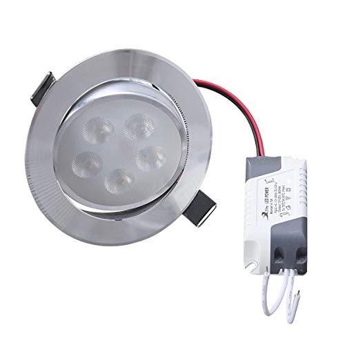 Uonlytech 6-8,5 CM LED Deckeneinbauleuchten Strahler 3 Watt Downlights Warmweißes Licht für wohnzimmer Schlafzimmer Küche