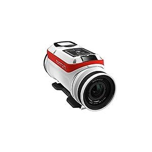 TomTom Bandit Base - Videocámara deportiva Full HD 1080p, color blanco y rojo