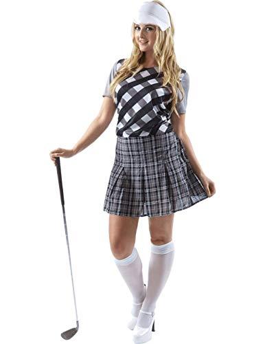 Erwachsene Damen Frauen Golfspieler Golf Huhn Kostüm hut Karneval ()
