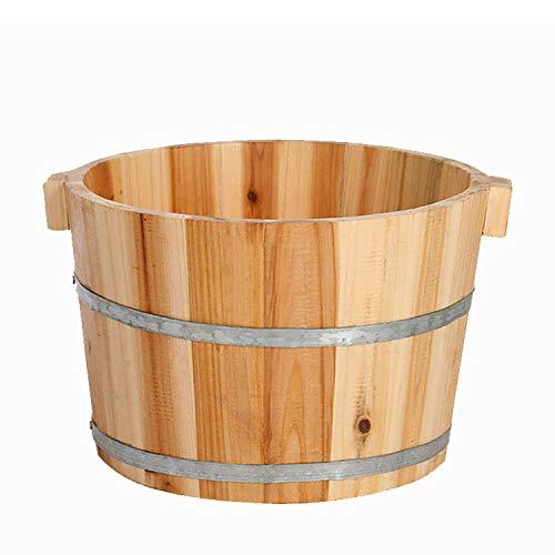 ARRYY Naturholz Fußbad Fass Sauna Waschen Chinesische Tanne Eimer Geschenk Für Eltern Und Kinder...