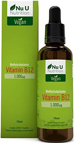 (Methylcobalamin)   75 Ml 2550 Tropfen (1.000 Μg Pro Portion) 17 Monate Vorrat   50% Mehr als Vergleichsanbieter   Hochdosiert   Frei Von Konservierungsstoffen   Vegan ()