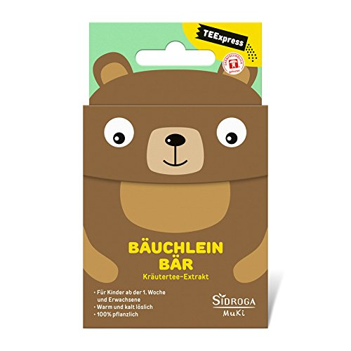 Sidroga TEExpress Bäuchlein Bär - Fenchel-Anis-Kümmel-Extrakttee für Babys, Kinder und Erwachsene - 15 Beutel à 0,3 g -