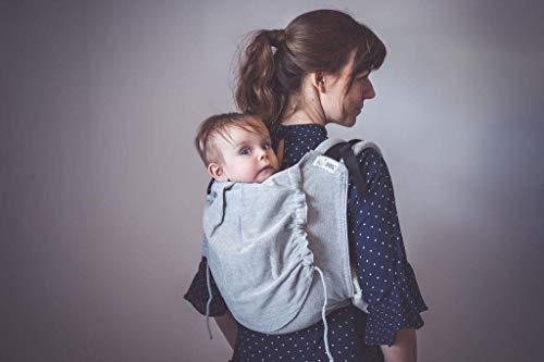 Madame Jordan Onbuhimo Babytrage 'Pur Grey' ab 9 Monate/75 cm Körperhöhe, Rückentrage, Bauchtrage ohne Hüftgurt