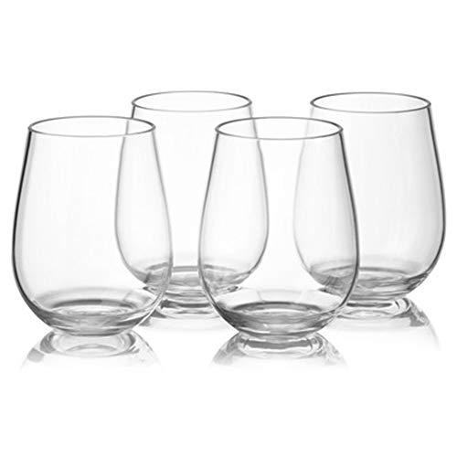 JKKC Bicchiere di Vino Set di Bicchieri di Vino in plastica Bicchiere di Vino Rosso 4pcs 450ml