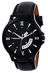 Redux Analogue Black Dial Men's & Boy's Watch RWS0106S