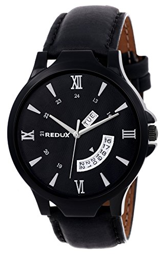 REDUX Analogue Black Dial Men's & Boy's Watch (Rws0106)