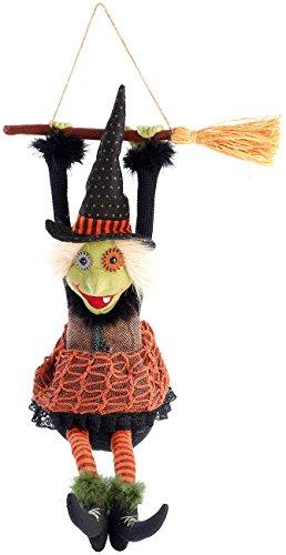 infactory Halloweendeko: Lachende und mit Beinen ausschlagende Hexe Morgana (Halloween Dekorationsartikel) (Halloween-dekoration Hexen Beine)